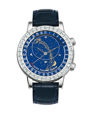 AAA Replica Patek Philippe Celestial White Gold Blue Watch 6104G-001