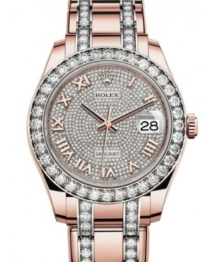 AAA Replica Rolex Oyster Perpetual Pearlmaster 39mm Ladies Watch 86285