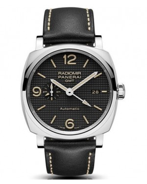 AAA Replica Panerai Radiomir 1940 3 Days GMT Automatic Acciaio Mens Watch PAM00627