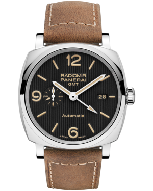 AAA Replica Panerai Radiomir 1940 3 Days GMT Automatic Acciaio Mens Watch PAM00657