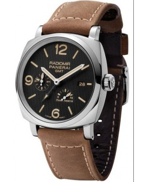 AAA Replica Panerai Radiomir 1940 3 Days GMT Power Reserve Automatic Acciaio Tuxedo Mens Watch PAM00658