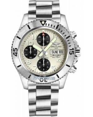 AAA Replica Breitling Superocean Chronograph Steelfish 44 Mens Watch a13341c3/g782-ss