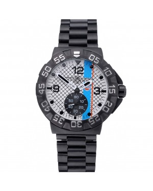 Tag Heuer Formula One Special Gulf Edition White And Blue Dial Ion Plated Steinless Steel Bracelet 622289