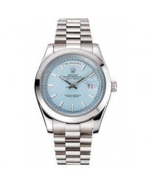 Rolex Day Date 40 Ice Blue Dial Stainless Steel Case And Bracelet
