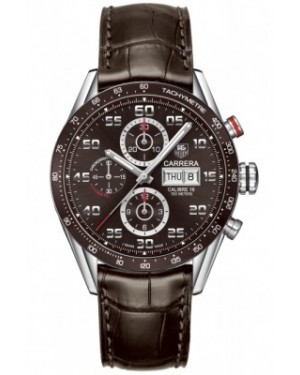 AAA Replica Tag Heuer Carrera Day Date Automatic Chronograph 43mm Mens Watch cv2a1s.fc6236