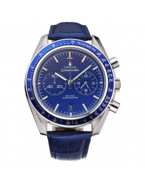 Omega Speedmaster Blue Dial Stainless Steel Case Blue Leather Strap 622808
