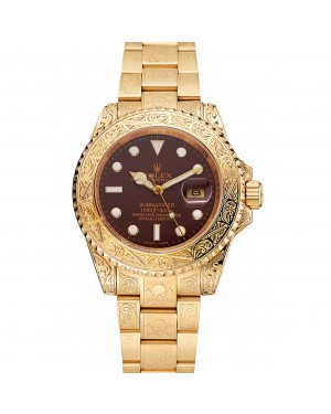 Rolex Submariner Skull Limited Edition Brown Dial Gold Case And Bracelet 1454070
