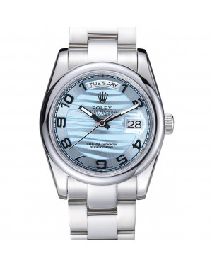 Rolex DayDate Polished Silver Bezel White Dial 7470