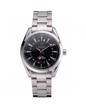 Omega Seamaster Planet Ocean GMT Black Dial Stainless Steel Band 622398