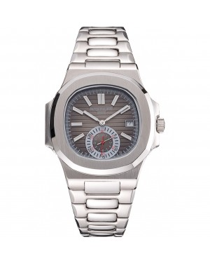 Patek Philippe Nautilus Gray Dial Stainless Steel Case And Bracelet