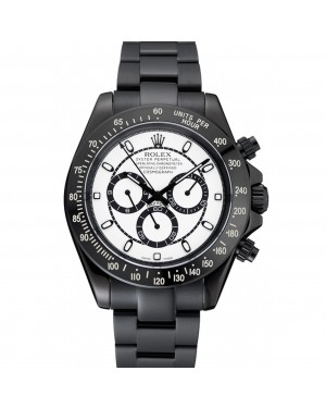 Rolex Cosmograph Daytona White And Black Dial Black Stainless Steel Case And Bracelet 1454249