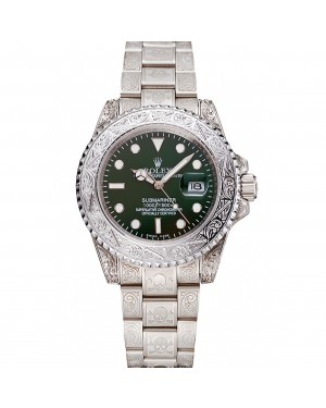 Rolex Submariner Skull Limited Edition Green Dial White Case And Bracelet 1454080