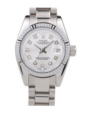 Rolex Datejust Polished Stainless Steel Silver Dial