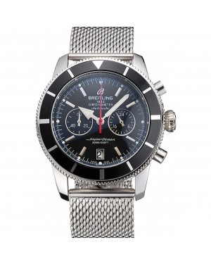 Breitling Superocean Heritage Chronographe 44 Black Dial And Bezel Stainless Steel Case And Bracelet