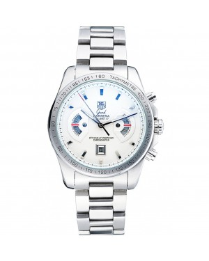 Tag Heuer Grand Carrera Stainless Steel Bracelet White Dial 801437