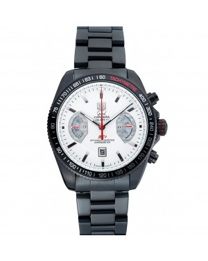 Tag Heuer Carrera Black Stainless Steel Case White Dial 98241