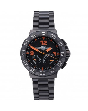Tag Heuer Formula One Calibre S Black Dial Orange Numerals Ion Plated Steinless Steel Bracelet 622300
