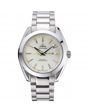 Omega Seamaster Aqua Terra Ivory Dial Black And Yellow Seconds Hand Stainless Steel Bracelet 622525