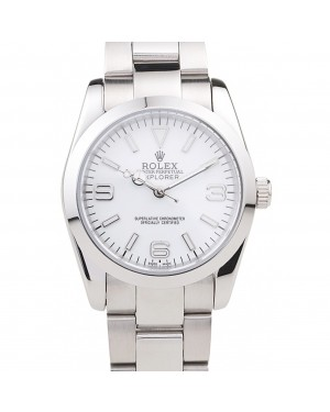 Rolex Explorer Polished Stainless Steel White Dial 98086