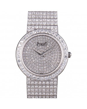 Piaget Swiss Limelight Diamonds Encrusted Stainless Steel Watch 80297