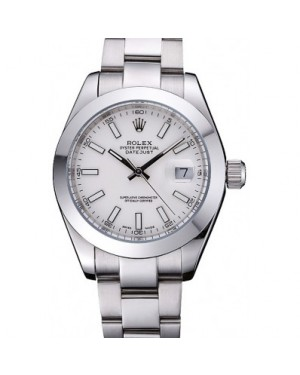 Rolex Datejust Stainless Steel Case White Dial 622266