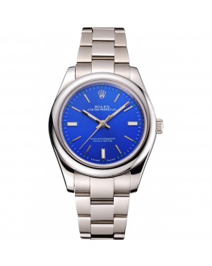 Rolex Oyster Perpetual Blue Dial Stainless Steel Case And Bracelet