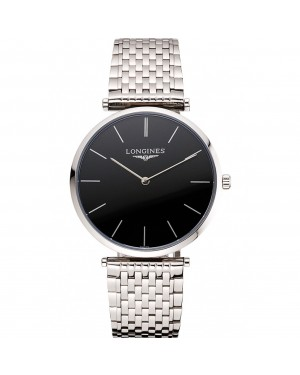 Swiss Longines Grande Classique Black Dial Stainless Steel Case And Bracelet