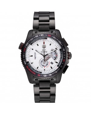 Tag Heuer Carrera Black Stainless Steel Case White Dial 98242