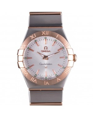 Omega Constellation Rose Gold Bezel Two Tone Band som101 621481