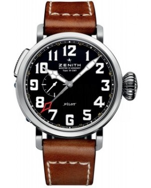 AAA Replica Zenith Pilot Montre d'Aeronef Type 20 GMT Mens Watch 03.2430.693/21.C723