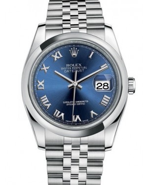 AAA Replica Rolex Datejust 36mm Stainless Steel Midsize Watch 116200-0069