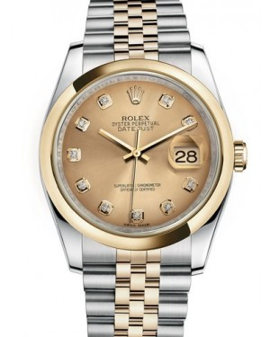 AAA Replica Rolex Datejust 36mm Stainless Steel and Yellow Gold Midsize Watch 116203-0140