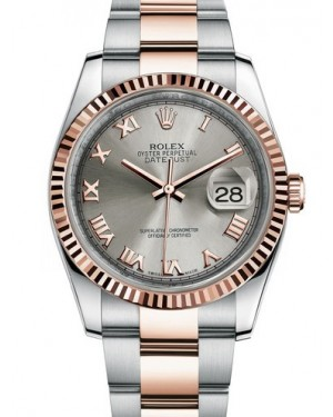 AAA Replica Rolex Datejust 36mm Stainless Steel and Rose Gold Midsize Watch 116231-0069
