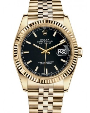 AAA Replica Rolex Datejust 36mm Yellow Gold Midsize Watch 116238-0074