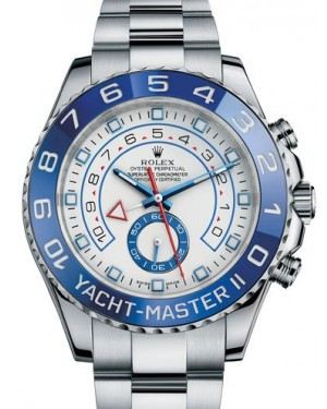 AAA Replica Rolex Yacht-Master II 44mm White Dial Mens Watch 116680-0001
