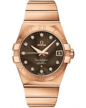 AAA Replica Omega Constellation Chronometer 38mm Mens Watch 123.50.38.21.63.001