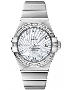AAA Replica Omega Constellation Brushed Chronometer 31mm Ladies Watch 123.55.31.20.55.003