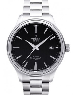 AAA Replica Tudor Style 38mm Black Dial Steel Strap Mens Watch 12500-1