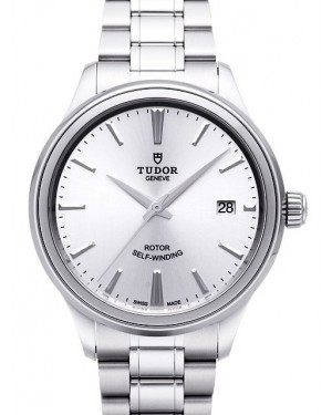 AAA Replica Tudor Style 38mm Silver Dial Steel Strap Mens Watch 12500