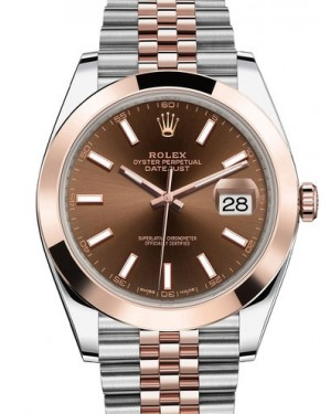AAA Replica Rolex Datejust 41mm Stainless Steel and Everose Gold Mens Watch 126301-0002