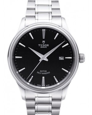AAA Replica Tudor Style 41mm Black Dial Steel Strap Mens Watch 12700-2