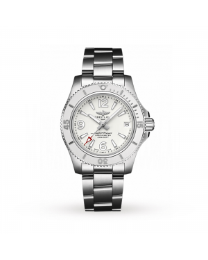 Swiss Breitling Watch Superocean Automatic 36 White Professional III A17316D21A1A1