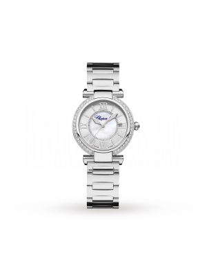 Swiss Chopard Imperiale 29mm Automatic Stainless Steel Diamond and Amethyst Ladies Watch