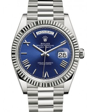 AAA Replica Rolex Day-Date 40mm White Gold Mens Watch 228239-0007