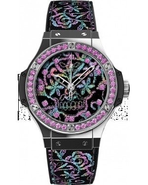 AAA Replica Hublot Big Bang Broderie Sugar Skull Steel Watch 343.SS.6599.NR.1233
