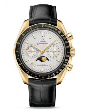 AAA Replica Omega Speedmaster Moonphase Master Chronometer Chronograph Yellow Gold Watch 304.63.44.52.02.001