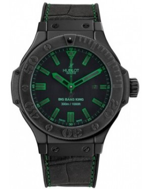 AAA Replica Hublot Big Bang King All Black Green Mens Watch 322.ci.1190.gr.abg11