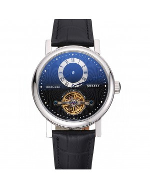 Breguet Classique Complications Stainless Steel Case Black Leather Strap 80158