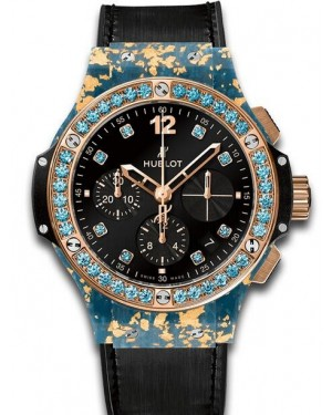 AAA Replica Hublot Big Bang Gold Linen Blue Gold Watch 341.XL.1280.NR.1207