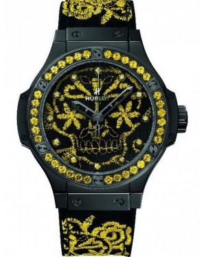AAA Replica Hublot Big Bang Broderie Sugar Skull Fluo Sunflower Watch 343.CY.6590.NR.1211